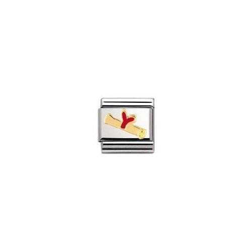 Nomination - 030223 - Maillon pour bracelet composable Mixte - Acier inoxydable et Or jaune 18 cts