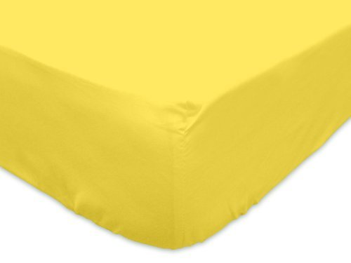Prince Lionheart Inc 1 PC Fitted Sheet Fit Upto 15'' inches Deep Pocket 600 Thread Count 100% Egyptian Cotton Queen Yellow