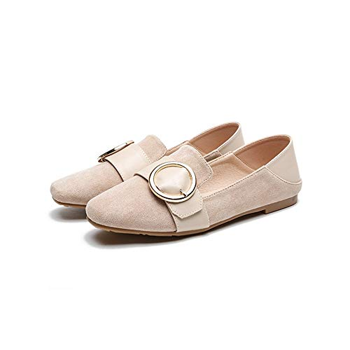 FLYRCX Zapatos de Maternidad Antideslizantes cómodos Zapatos Planos Retro de Las señoras Zapatos de Trabajo de Las señoras, 37 UE 39 EU