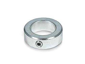 Stellring DIN705 mit Gewindestift DIN553 in Stahl verzinkt Form A von 3-40mm