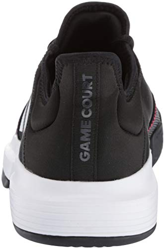 adidas Men's Gamecourt, Black/White/Shock red 8 M US by adidas (Image #2)