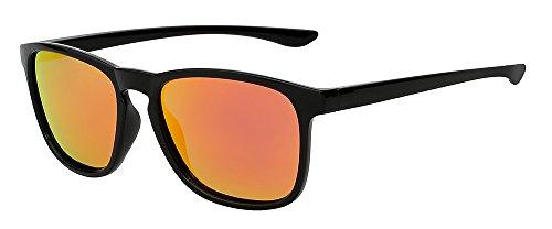 red de gafas calidad ESPEJO Black lujo de polarizadas gafas D'epoca espejo Diseño Marca Piazza W azul negro w gafas TIANLIANG04 UV400 sol sol de DE de mirror LENTES Mens hombres de EnZCq18pwx