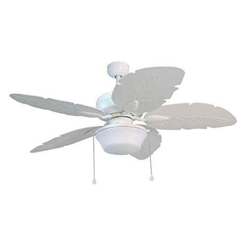 Waveport 52-in White Integrated Led Indoor/Outdoor Downrod Mount Ceiling Fan with Light Kit
