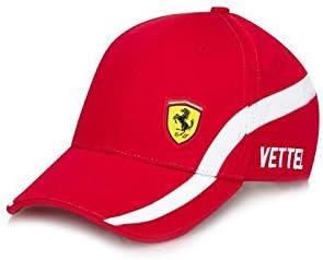 Ferrari Rojo Sebastian Vettel # 5 Gorra de béisbol Cap w/Scuderia ...