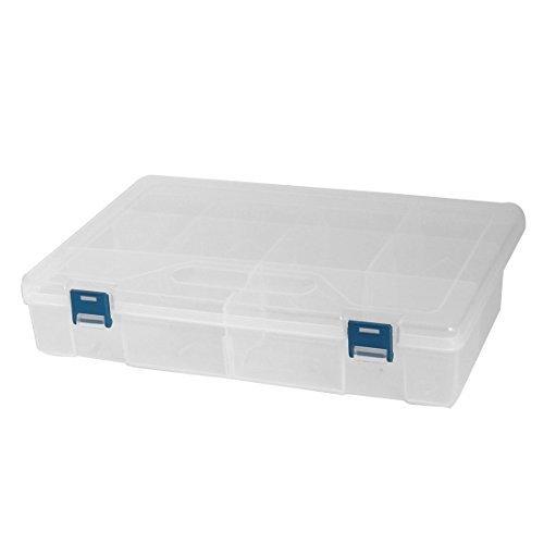 Amazon.com: DealMux Plástica Household destacável 10 slots Sundries Storage Container Box Clear Case: Home & Kitchen