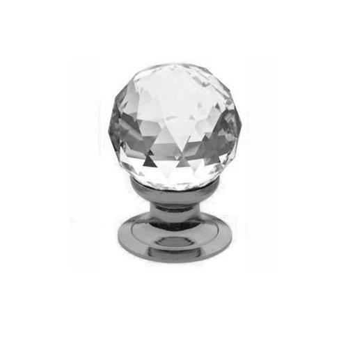 Baldwin 4334.150.S Cut Swarovski Crystal 1-3/16-Inch Diameter Ball Cabinet Knob, Satin Nickel