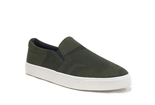 SODA Womens Preforated Slip On Sneakers Khaki Camo,  Khaki Camo, 8 M -