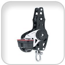 Harken 40mm and 57mm Carbo Fiddle Blocks, 40mm carbo fiddle block w/ cam bkt by Harken