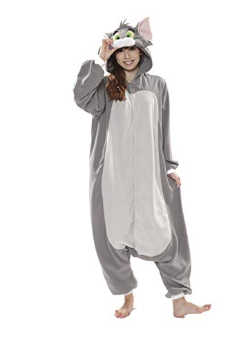 SAZAC Tom and Jerry - Tom Kigurumi Halloween Costume Adult Onesie -