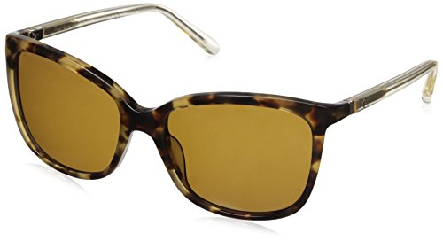 Honeys Honey Havana (Kate Spade Women's Kasie/P/S Polarized Square Sunglasses, Havana Honey/Brown, 55 mm)