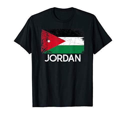 Jordanian Flag T-Shirt | Vintage Made In Jordan Gift