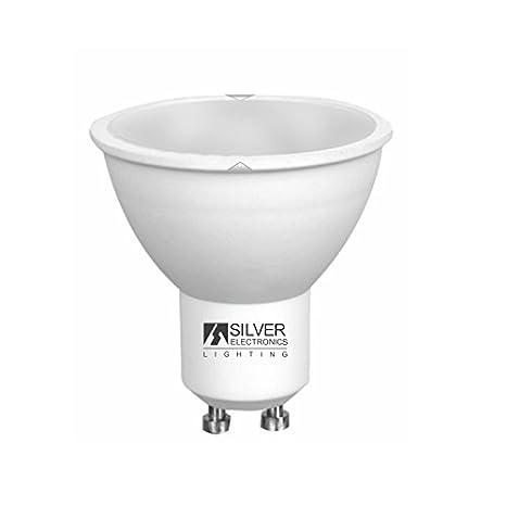Silver Electronics 1440710 LED Eco Dicroica GU10, 7 W, Blanco: Amazon.es: Iluminación