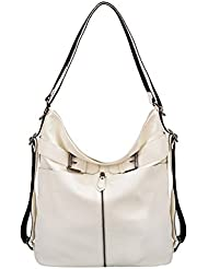 Mellow World Heather Convertible Hobo/Backpack 15x5x11, White