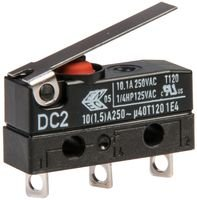 CHERRY DC2C-A1LB MICRO SWITCH HINGE LEVER SPDT 10.1A 250V