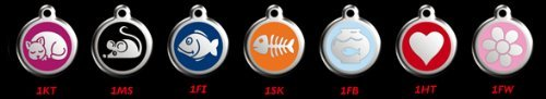 Enamel Pet Tag - Custom Engraved Stainless Steel with Enamel Cat ID Tags - Small