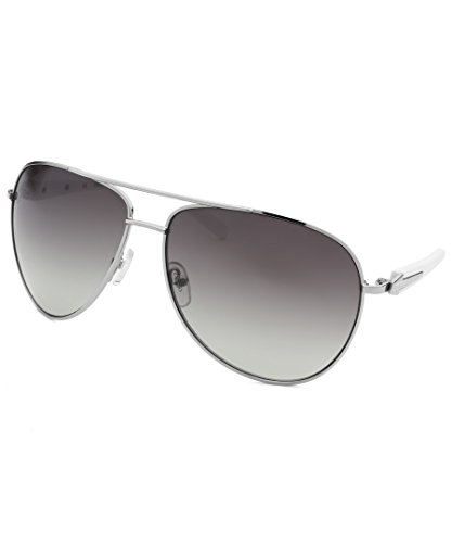 Guess Sunglasses - 6718 / Frame: Silver with White Temples Lens: Gray - Frame White Sunglasses Guess