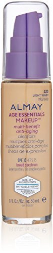 Almay Age Essentials Anti-Aging SPF Foundation, Light Warm, 1 Fluid Ounce by Almay