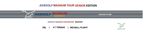 AGXGOLF Magnum SENIOR Flex Graphite Irons Shafts: 370 Parallel Tip / 41 Inch; 78g / 4.5 Torque: Use For Any .370 Irons: In Stock! Buy Now! Fast Shipping!