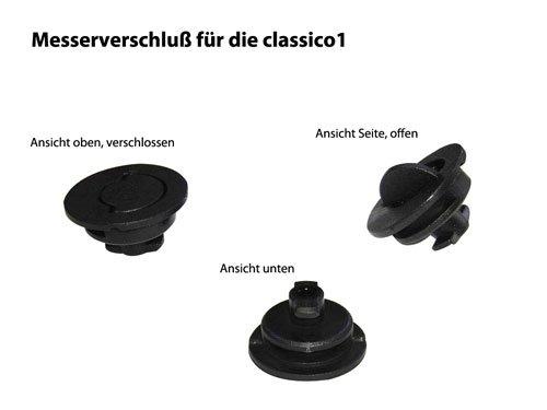 Messerverschluss aus Kunststoff für den Ritter Allesschneider classico 1 und AES 72 SR/Maße: Ø ca. 4 cm/Multischneider / Ersatzteil