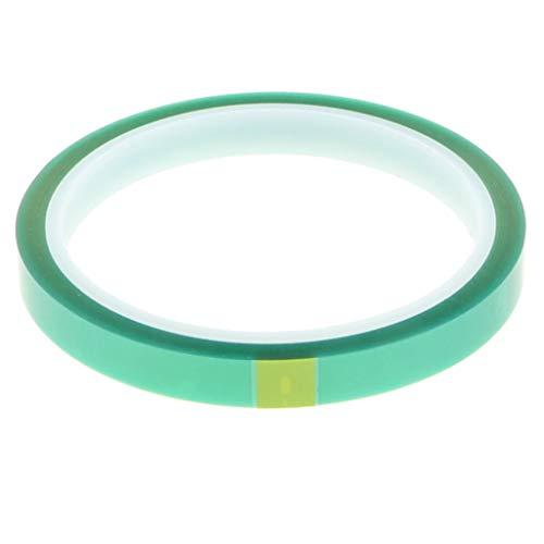 Fityle Aislante Térmico Resistente A Altas Temperaturas Cinta Adhesiva Eléctrica Verde 10mm