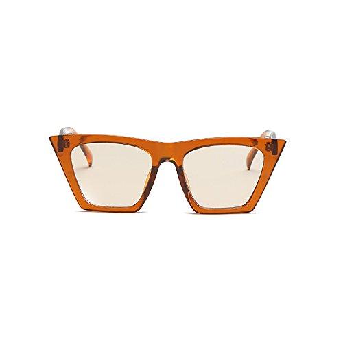 Sol G Gafas Cuadrado Diseñador Gato de Ojo Mujer UV400 Hombre F Lente de Gafas Moda Acetato Marco Marca Transparente Burenqi de de de BzqEw0F