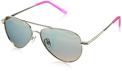 Polaroid Sunglasses PLD8015N Polarized Aviator Sunglasses, Gold/Brown Mirror Polarized, 52 - Glasses Polaroid