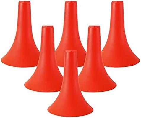 DIDILI 6 Pcs Training Cones, Basketball Training Cone Football Basketball Speed Agility Grab Training Marker Cones