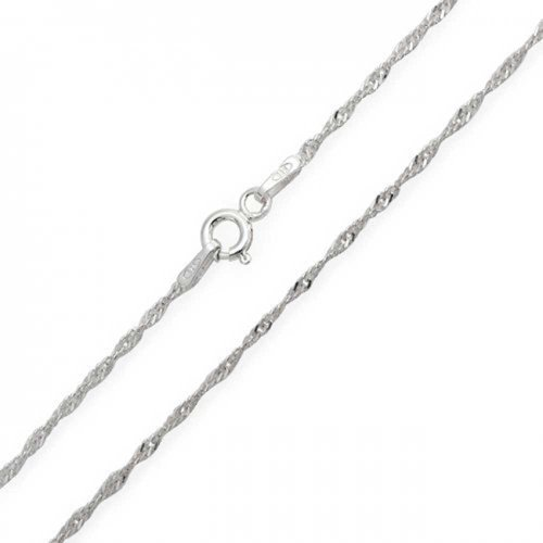 Sterling Silver 1mm Singapore Chain - 5