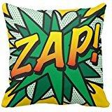 Comic Book Zap Pop Throw 18*18 pillow Case