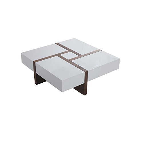 Beliani Evora 4 Drawer Modern Designer Coffee/Sofa Table, White