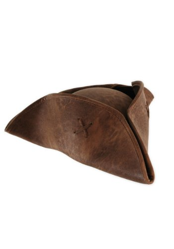 elope Pirates of the Caribbean Jack Sparrow Hat, Brown, Adult (One-Size) (Colonial Pirate Costume)