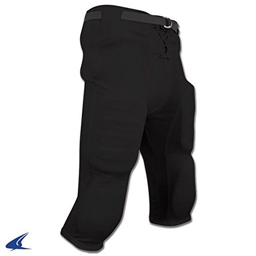 CHAMPRO Adult Adult Slotted Football Pant, Size: 5XL, Black