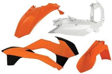 E-Start 2014-2016 Acerbis Replica Plastic Kit White for KTM 250 XC-W