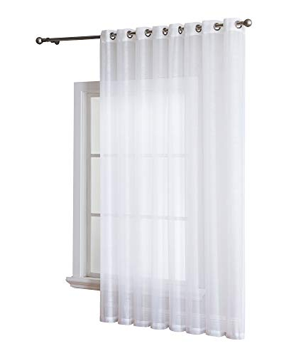 Cheap  Grommet Semi-Sheer - 1 Extra Wide Patio Curtain Panel - 102 Inch..
