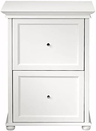 Charmant Amazon.com: White Two Drawer Wood File Cabinet, TWO DRAWER, WHITE: Kitchen  U0026 Dining