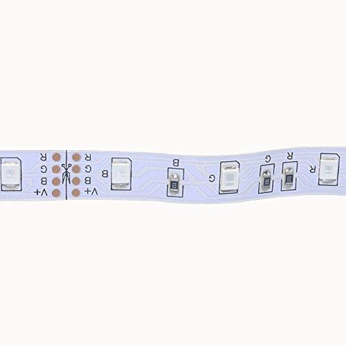 B2ocled Flexible LED Strip Lights,2835 LEDs Warm White Non-Waterproof LED Light Strip,12V DC 16.4ft/5m LED Tape for Gardens/Homes/Kitchen/Cars/Bar