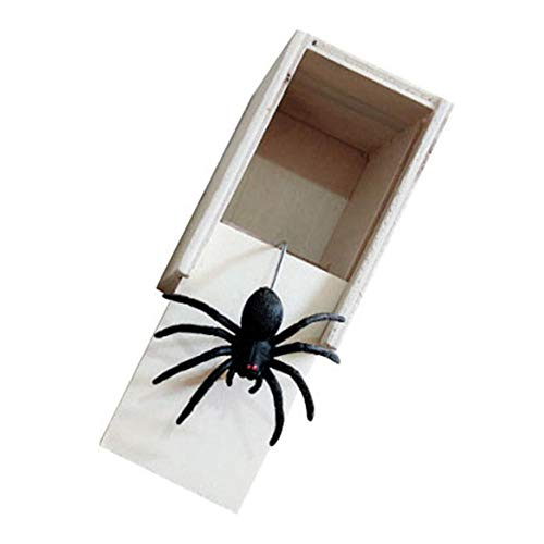 Pranks To Pull On Halloween (Scary Prank Box,Spider Prank Scare Box,Don't Touch Box,Scary Spider/ Mouse/Random Box for April Fools Jokes Halloween Party Decoration)