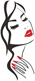 MQTYOL Art Decals Meisje Rode Lip Ogen Muurstickers Woonkamer Decoratie DIY Vinyl Decals Art Poster Huisdecoratie PVC Behang