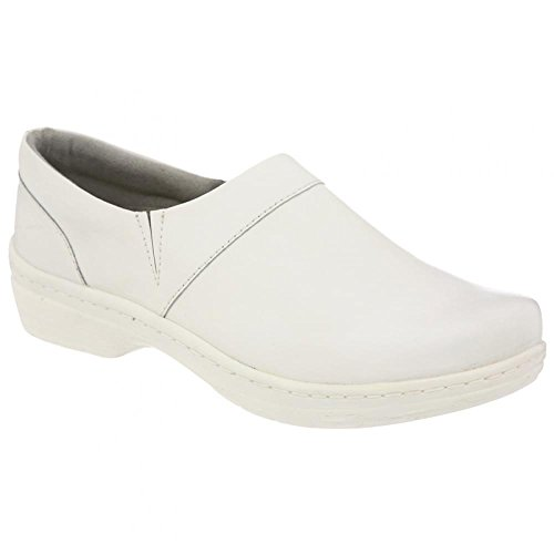 Klogs Mission - Leather Clog - Many Colors White Smooth