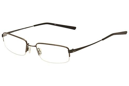 Nike 4192 Eyeglasses (215) Walnut/Black Chrome, - Nike Rimless Eyeglasses