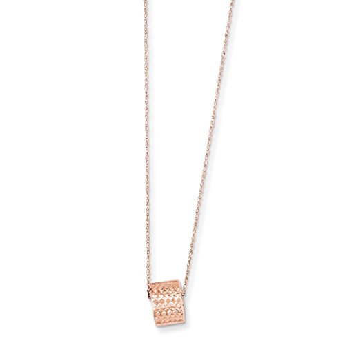 Bead 2 Inch Extension Chain Necklace Pendant Charm Station Fine Jewelry For Women Gift Set ()