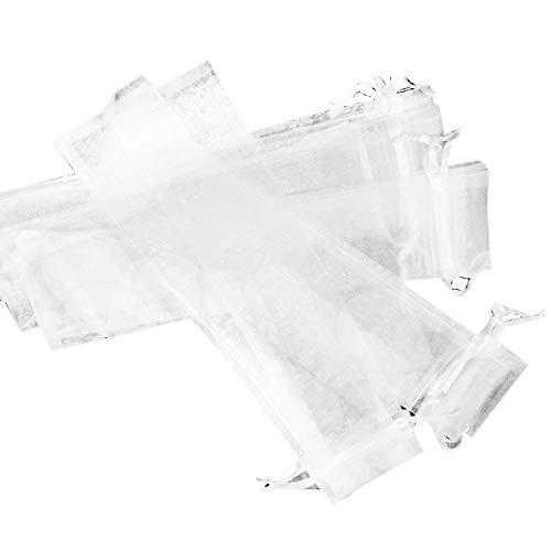 - SODIAL 50pcs White Drawstring Organza Folding Hand Fan Pouch Party Wedding Favor Gift Bags