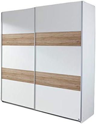 Armario de puertas correderas colour blanco y marrón claro/2 puertas B 181 cm armario ropero para niños con diseño de las habitaciones del armario de habitaciones de niños y jóvenes: Amazon.es: Hogar