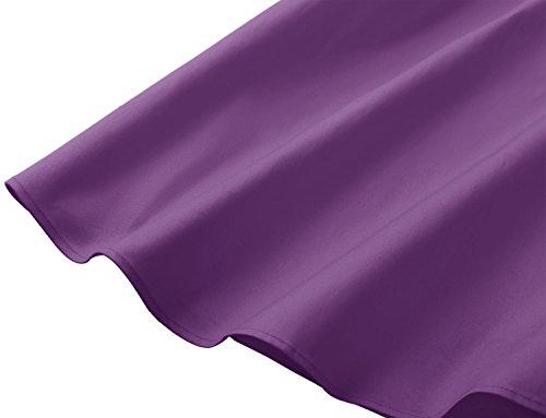 Gardenwed Pin Sin Up Mujer Cóctel Fiesta Vestidos Purple Mangas Retro rqREwr0A