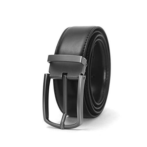 Black Genuine Leather Casual Belt for Dress Jeans belts for men big and tall long belts for plus size work belts Pin buckle Classic and Fashion Design