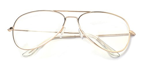 Outray Classic Aviator Metal Frame Clear Lens Glasses ...