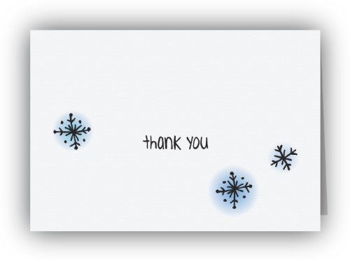 Dazzling Snowflakes Thank You Cards - 24 Cards & Envelopes (Thank You Card Snowflake)
