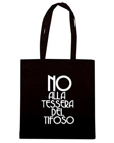 Speed Shirt Borsa Shopper Nera TUM0050 ULTRAS NO ALLA TESSERA DEL TIFOSO