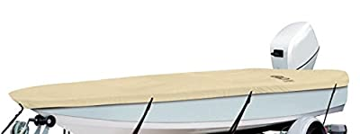"""Classic Accessories DryGuard Heavy-Duty Waterproof Boat Cover For Utility/Fishing Boats 14' - 16' L, Up to 75"""" W"""