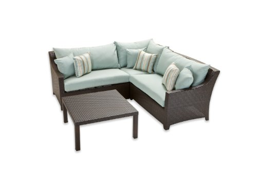 RST Outdoor RST Brands OP-PESS4-BLS-K Deco Club Chairs & Side Table - Bliss